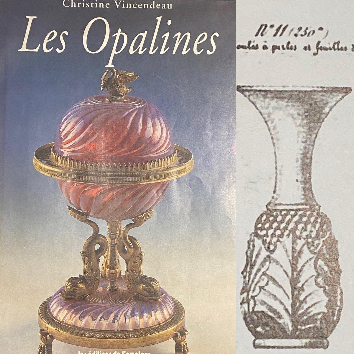 Rare Paire De Vases En Opaline Bicolore Blanc Et Jaune  Baccarat XIXeme Napoléon III.-photo-7