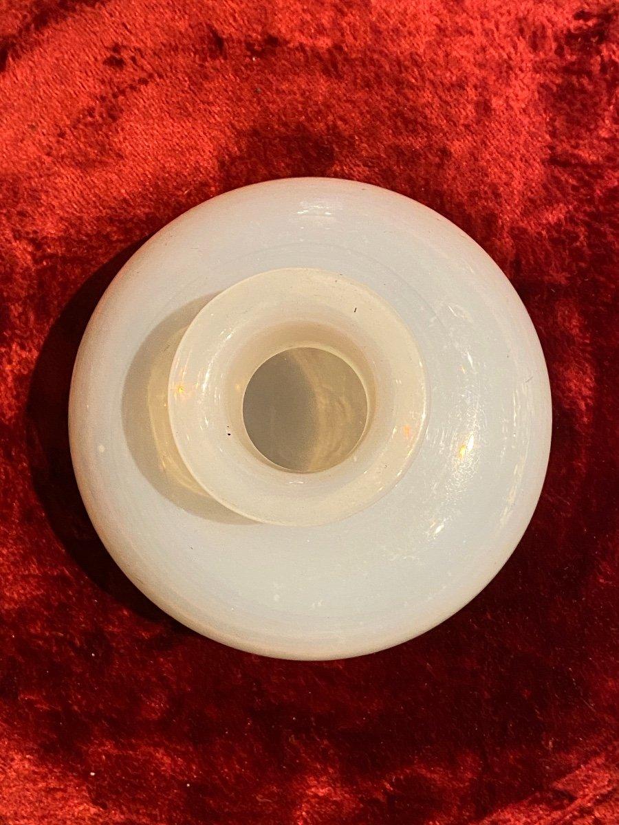 Important Flacon à Parfum En Opaline Savonneuse Ou Bulle De Savon XIXeme époque Charles X.-photo-3