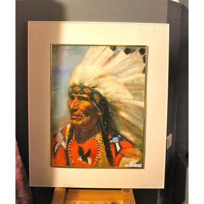 """Grand Pastel de Léa Chapon : """" l' Apache """""""