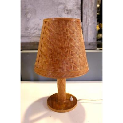 Tres Belle Lampe en Paille . XXeme Siecle . CIRCA 1960
