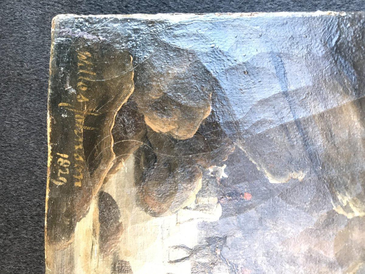 Mouillage Forain Et Debarquement Le Soir angleterre signé-photo-2