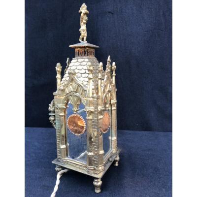 Lanterne Lampe De Table Gothyque XIX Angleterre