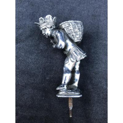 Mascotte De Voiture Bronze Nickellé Signée Cardeilhac Paris