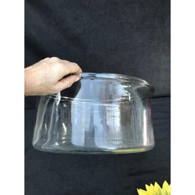 Très Grand Vase Cuvette Cristal Ou Verre XIX Cabinet De Curiosité