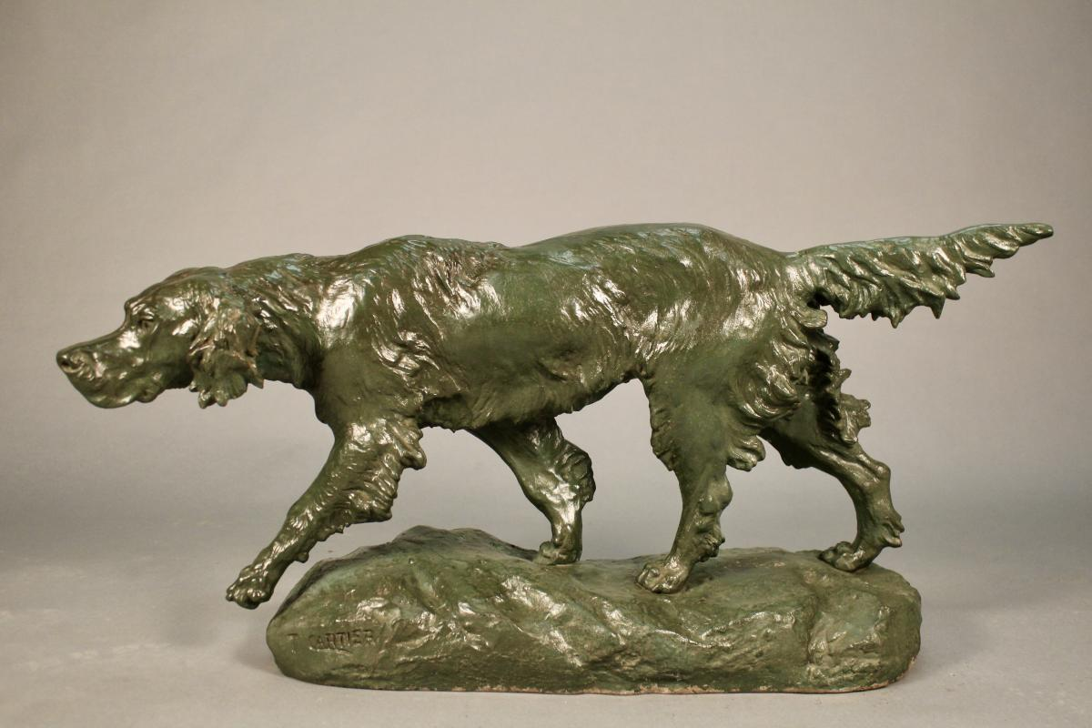 """""""setter On The Lookout"""" Regulates By Thomas Cartier (1879-1943)"""