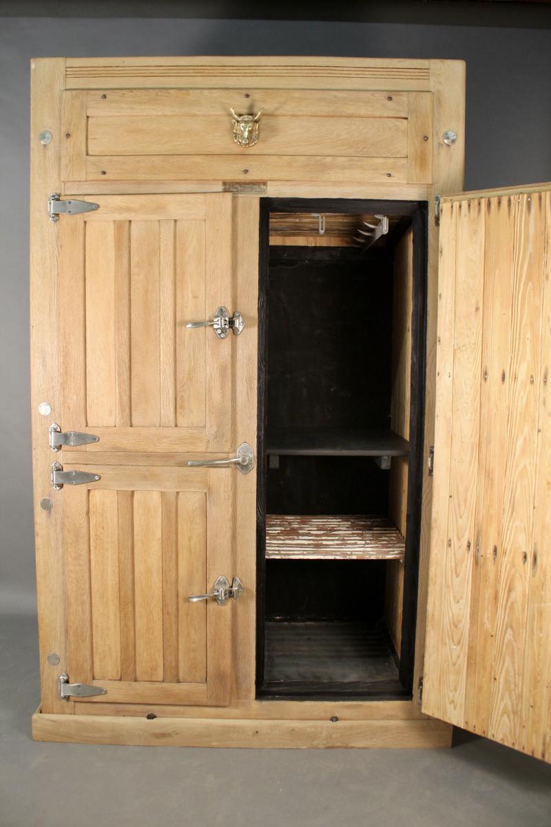 Glaci re frigidaire 1950 en bois meubles de m tier - Meuble glaciere bois ...