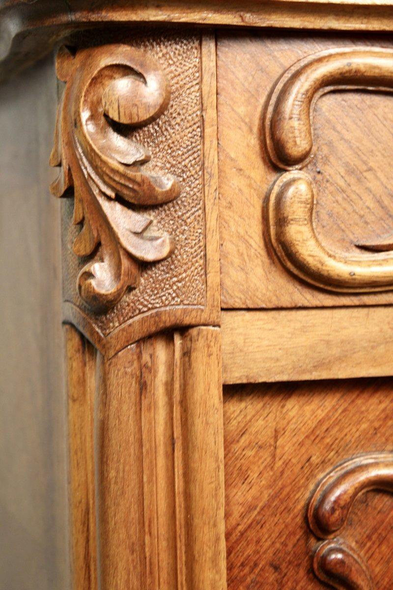 Chevet En Noyer De Style Louis XV XIXème-photo-2
