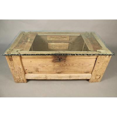 Oak Chest Top Glass