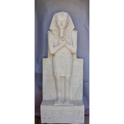 Paire De Pharaons 2m60 de haut, éléments De Grande Décoration