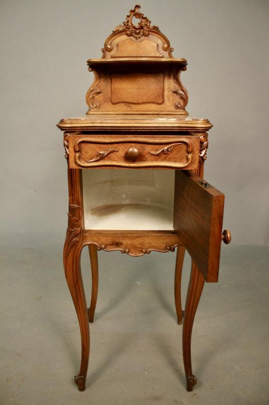 Chevet En Noyer De Style Louis XV XIXème-photo-3