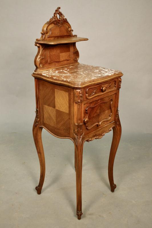 Chevet En Noyer De Style Louis XV XIXème-photo-4