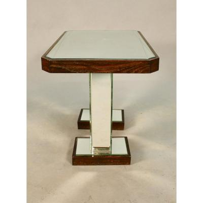 1940s Two-leg Mirror Top Table