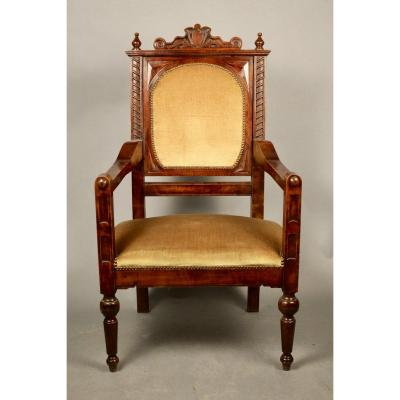 Nineteenth Mahogany Office Chair