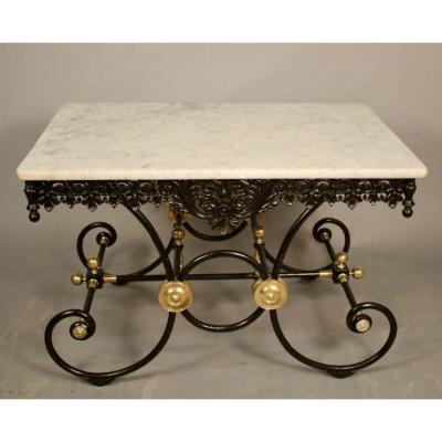 Table De Boucher Dessus Marbre Epoque Art Deco