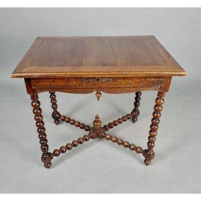 Louis XIII Style Writing Table, XIXth