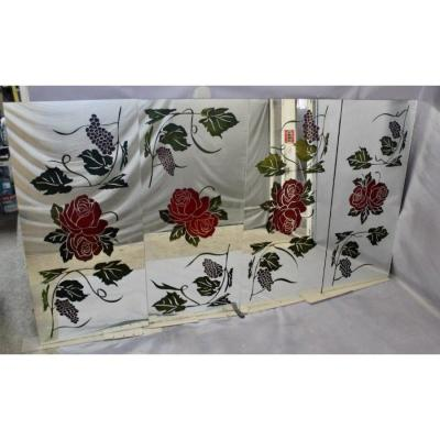 Suite Of 4 Large Decorated Mirrors