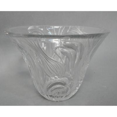 Vase  ART NOUVEAU En Cristal Taillé