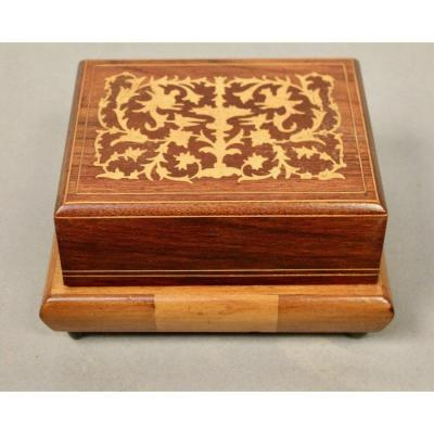 Inlaid Cigarette Box And Music Box