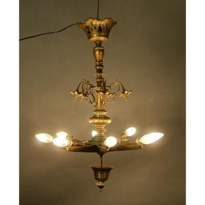 Bronze Synagogue Chandelier