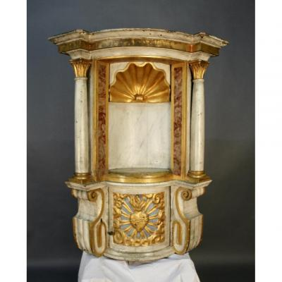 Italian Tabernacle In Polychrome Wood Napoleon III