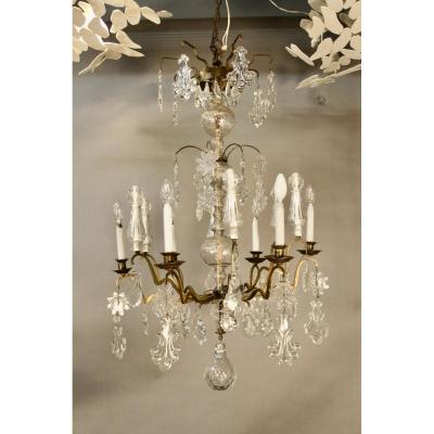 Cage Chandelier Crystal Tassels 12 Arms Including 6 Lights