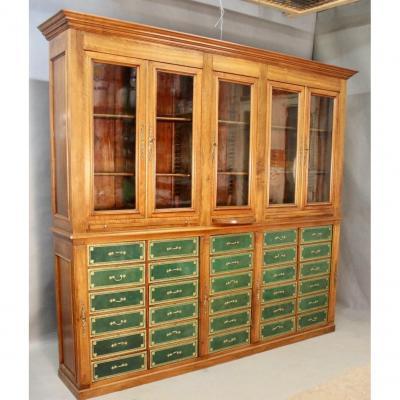 Importante Bibliothèque Cartonnier En Acajou XIXème