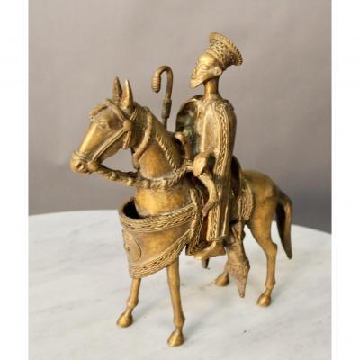 Bronze d'Un Dignitaire à Cheval Mongole