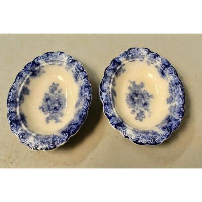 Paire De Légumiers Alfred Meakin England Royal semi porcelain