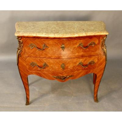 Louis XV Style Sauteuse Commode Rosewood