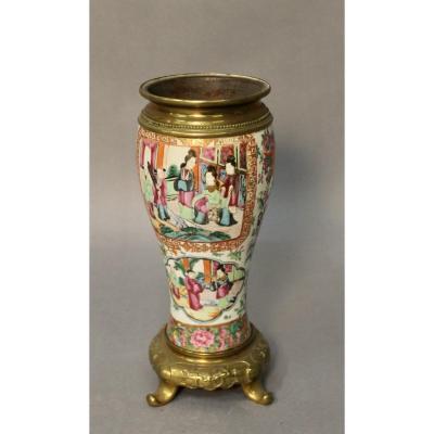 Nineteenth Canton China Porcelain Vase