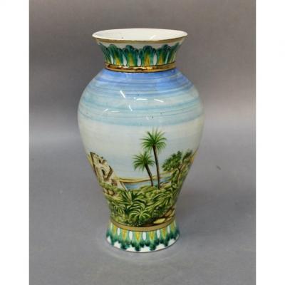 Oriental Earthenware Vase