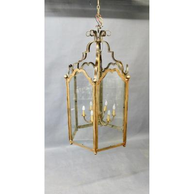 Monumental Lantern With 6 Cut Pans, 6 Lights Height 160 Cm