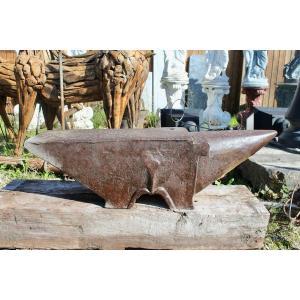 Large Wrought Iron Blacksmith Anvil