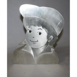 Le Titi Parisien In Brushed Steel By Mick Micheyl (1922-2019)