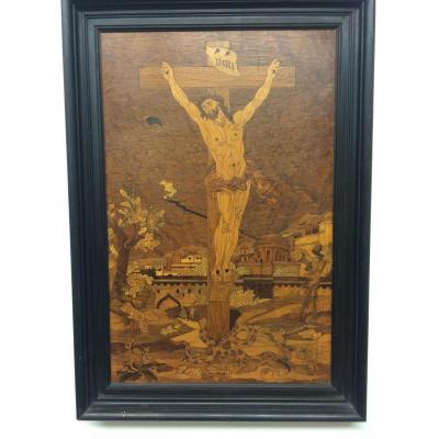 Marquetry The Crucifixion