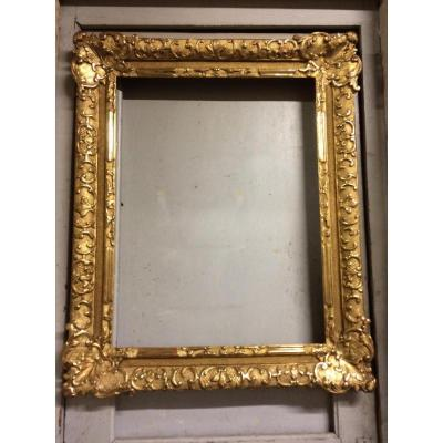 Large Frame Oak Carved And Gilded Style Regency Eighteenth