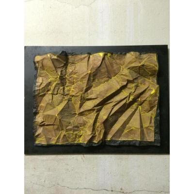 Sculpture Papier Froissé