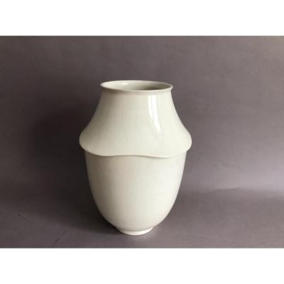 Primavera vase craquelé en céramique Art Déco 1930