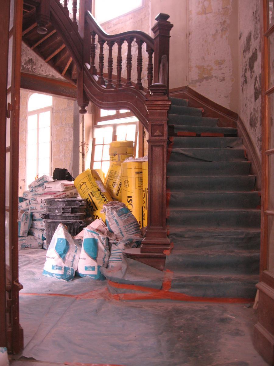 escalier style victorien poque 1917 acajou massif escaliers rampes balustres. Black Bedroom Furniture Sets. Home Design Ideas