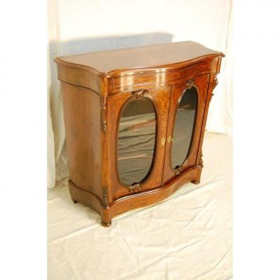 Meuble d' Appui-vitrine - époque XIXème - Acajou vernis tampon