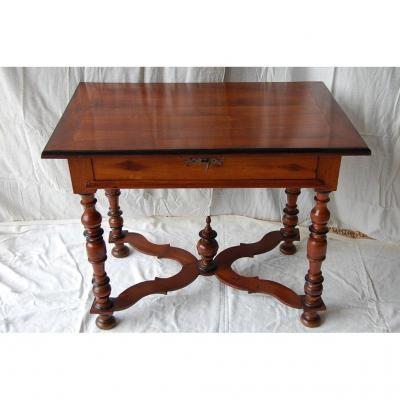 TABLE de Port, début XVIIIème, bois satiné