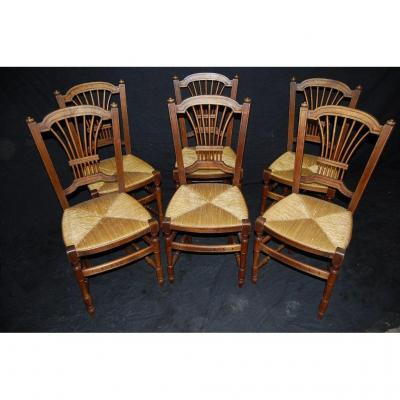 From The Nineteenth Time Series Of Chairs - Various Wood Species