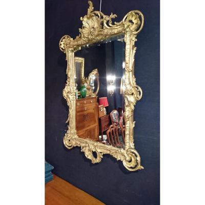 "Miroir époque Fin XVIIIème. "" Rocaille "" Dorure d'époque"