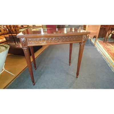 "Petite Table XIXème. Acajou  attribuée à"" G. BENEMAN """
