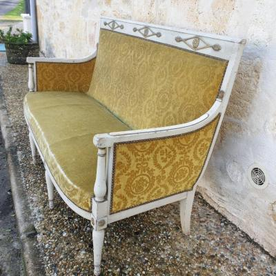 "Sofa ""directoire"" Late Eighteenth ""- Stamped"" C. Lerat """