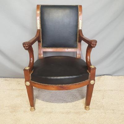 19th Century Officer's Armchair,