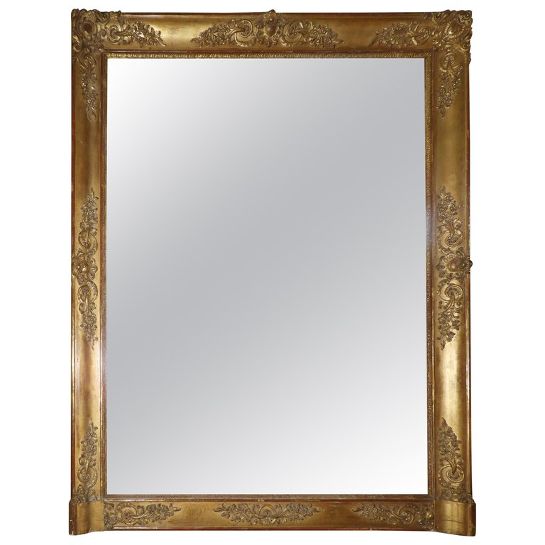 Gold Painted/patinated French Mirror, 20th Century