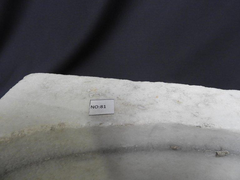 Lavabo En Marbre Blanc, Datant Du 19ième Siècle -photo-2