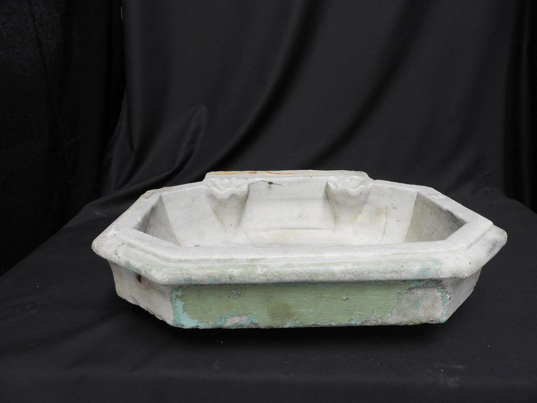 19th Century White Marble Sink