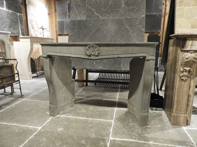 Small Fireplace In Grey Stone, 18th Century